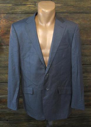 Пиджак серый pierre cardin, wool, 38r (m), как новый!