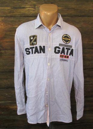 Рубашка стильная stagnatta, xl, cotton, как новая!