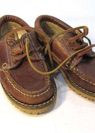 Туфли мокасины детские, 29 (18 см), кожа, отл сост!