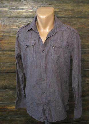Рубашка стильная diesel, xl, качественная, как новая!