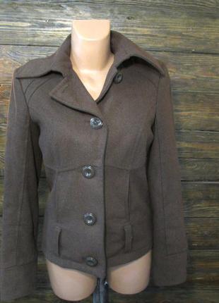 Пальто коричневое vero moda, s, шерсть, как новое!