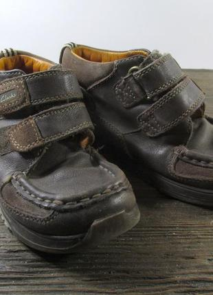 Туфли кожаные clarks, 9.5 (27, 17.5 см), коричневые, отл сост!