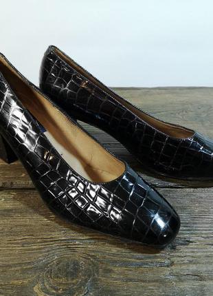 Туфли стильные maria oh, 39 (26), кожа, черные, отл сост!