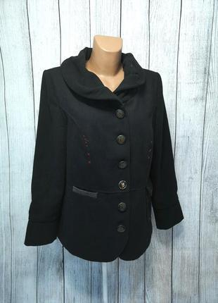 Пальто стильное rainbow, 18 (52), черное, как новое!