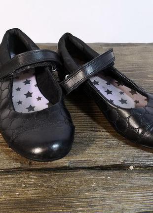 Туфли детские для девочки clarks, 10.5 (32, 20 см), кожа, отл ...