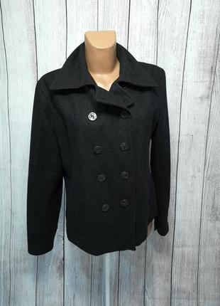 Пальто pescara, xl (20), черное, демисезонное, как новое!