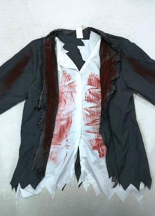 Рубашка карнавальная на хелоуин, 13+ лет (152-158 лет), как но...