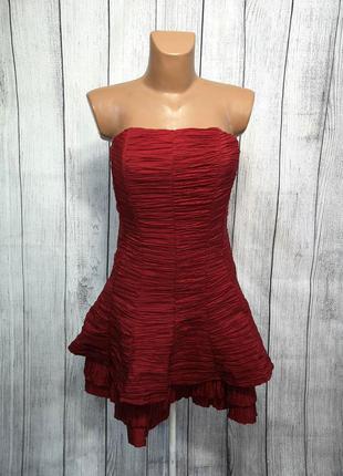 Платье стильное vestry, 10 (s), красное, как новое!