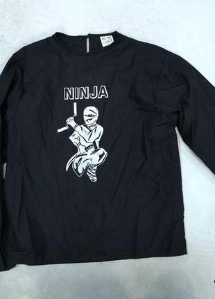 Футболка карнавальная ninja, черная, хлопок, отл сост!
