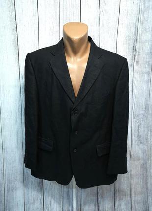 Пиджак стильный, m&s collezione, лен, черный, как новый!