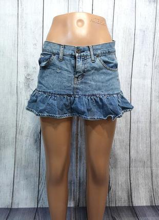 Юбка мини f sista, короткая, джинсовая, отл сост!