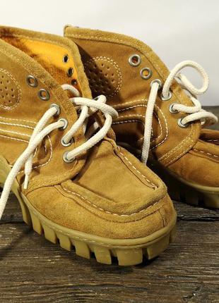 Ботинки из натур. замша, стильные, оч хор сост! (24.5 см, 38)