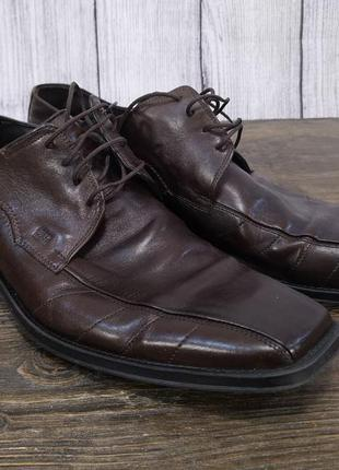 Туфли кожаные, стильные fretz, кожаные