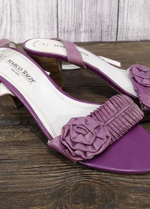 Босоножки стильные marco tozzi, фиолетовые