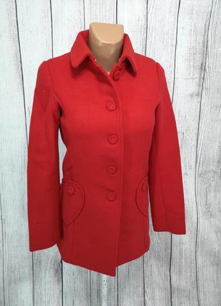 Пальто красное стильное cashe cashe