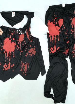 Корстюм карнавальный кровавого полицейского. serious fun