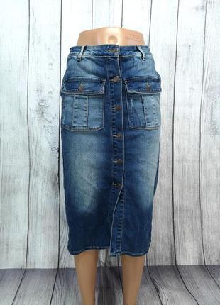 Юбка джинсовая миди object