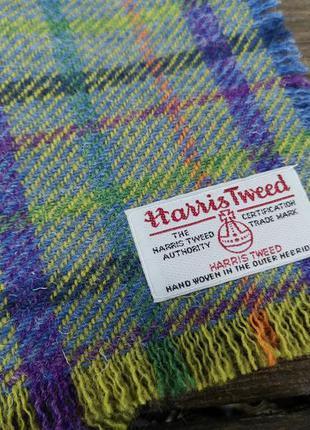 Шарф твидовый, эксклюзивный harris tweed, оригинал,