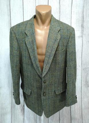 Пиджак оригинальный harris tweed, desch, зеленоватый