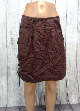 Ультра легкая шелковая юбка soft grey