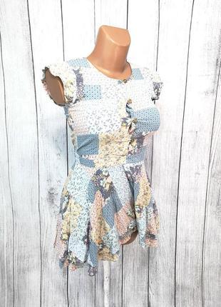 Платье стильное, легкое next, с шортами для девочки