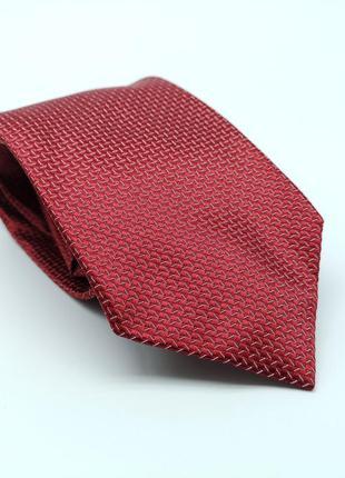 Галстук фирменный бордовый erve jacques, silk, италия
