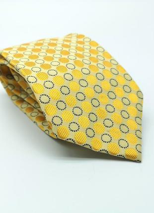 Галстук фирменный lanvin шелковый, желтый, как новый!