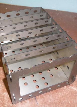 Печь щепочница, мини мангал толщиной 2,0 мм, большая