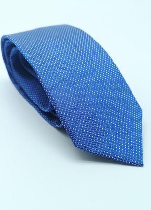 Галстук фирменный globus, синий, шелковый