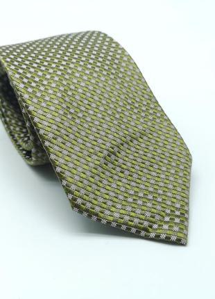 Галстук фирменный, качественный h&m, шелк, зеленый