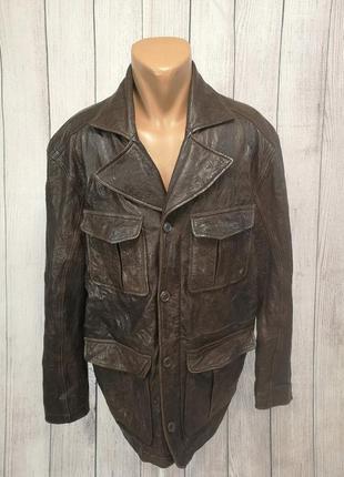 Куртка кожаная alpinestar, коричневая