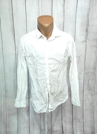 Рубашка стильная h&m, белая