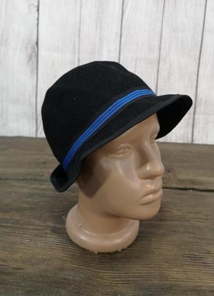 Шляпка детская h&m, черная, шерстяная,