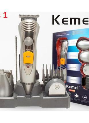 Машинка для стрижки волос бритва триммер для бороды Kemei KM-5...