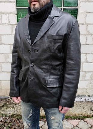 Пиджак кожаный куртка жакет WOODLANDS р.L Original