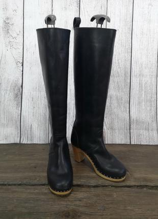 Сапожки черные loffel, кожаные, нужен ремонт