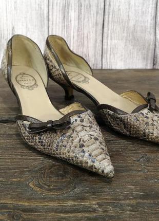 Туфли босоножки эксклюзивные marian spain, кожа рептилии