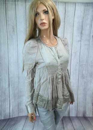 Блузка стильная, серебристая malene birger, viscose