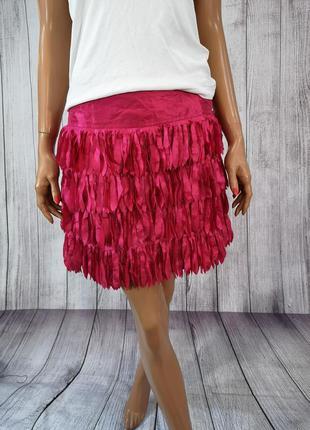 Юбка мини стильная, розовая papaya occasionwear