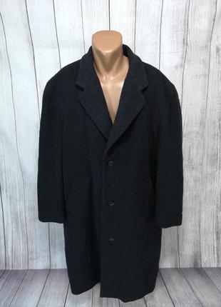 Пальто стильное шерстяное, hugo boss
