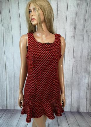 Платье стильное, теплое lic-ce, красное
