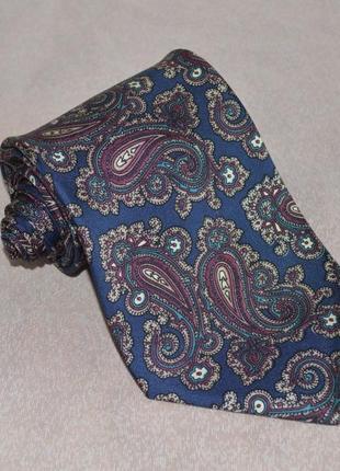 Брендовый галстук enrico rossini италия шелк