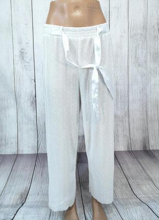 Штаны стильные белые, masquenada, свободные, мин загрязн