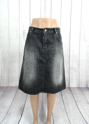 Юбка джинсовая миди silver creek, серая