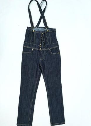 Качественные, стильные, фирменные джинсы с подтяжками crazy lo...