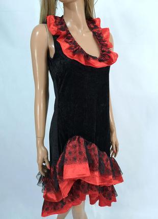 Платье карнавальное, красно черное fashion for fun