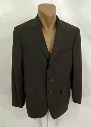 Пиджак фирменный scabal n12, коричневый, шерсть, hand made italy