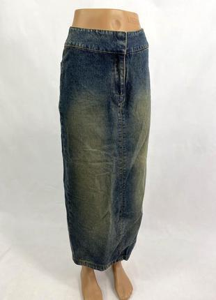 Юбка джинсовая макси elements