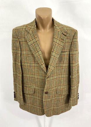 Пиджак твидовый, эксклюзивный harris tweed, barutti