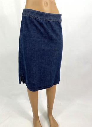 Юбка джинсовая миди, стильная liberto